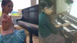 Aitana y Eugenio Derbez no solo se parecen físicamente: ambos tocan el piano desde pequeños