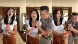 Edwin Luna quiere cantar junto a Kim Flores y termina dándose quemazón en la mano