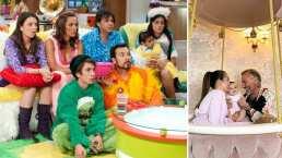 Como 'La Familia P. Luche': Gianluca Vacchi, Sharon Fonseca y su bebita presumen sus esponjosas pantuflas
