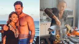Angelique Boyer le cocina a Sebastián Rulli y él le dice '¿Qué es eso, una receta o una pócima?'