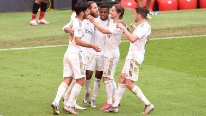 El Real Madrid logra conseguir los puntos en el nuevo San Mamés y se queda centímetros de coronarse con el título de La Liga.