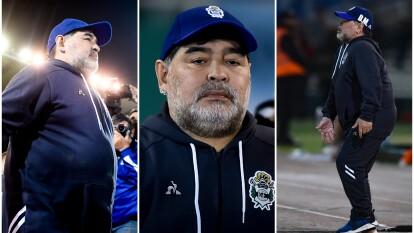 Así vivió Maradona la derrota de Gimnasia 2-1 ante Talleres de Córdoba