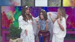 "Andrea Escalona se somete a ritual para casarse y recibe consejo de Galilea Montijo: ""Pide anillo grandote"""