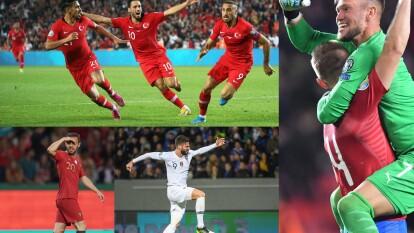 Ucrania 2-0 Lituania; Turquía 1-0 Albania; Portugal 3-0 Luxemburgo; Montenegro 0-0 Bulgaria; Islandia 0-1 Francia; República Checa 2-1 Inglaterra; Andorra 1-0 Moldavia.