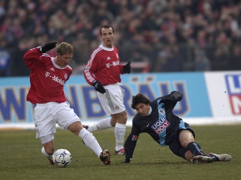 Bastian Schweinsteiger and Daniel Borimirov