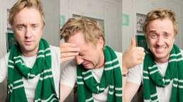 Tom Felton de 'Harry Potter' hace drama por culpa de un test de Hogwarts