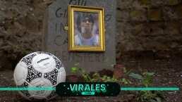 """La pelota a Diego Maradona: """"Gracias por jugar conmigo"""""""