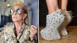 Yuri nos muestra los tacones más raros en su colección de zapatos