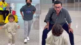 A Adal Ramones no se le termina la pila; juega como niño con sus hijos