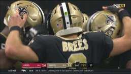 Drew Brees está imparable y anota por la vía terrestre