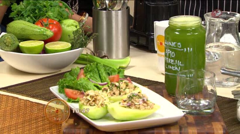 Cocina: Chayotes rellenos de pavo