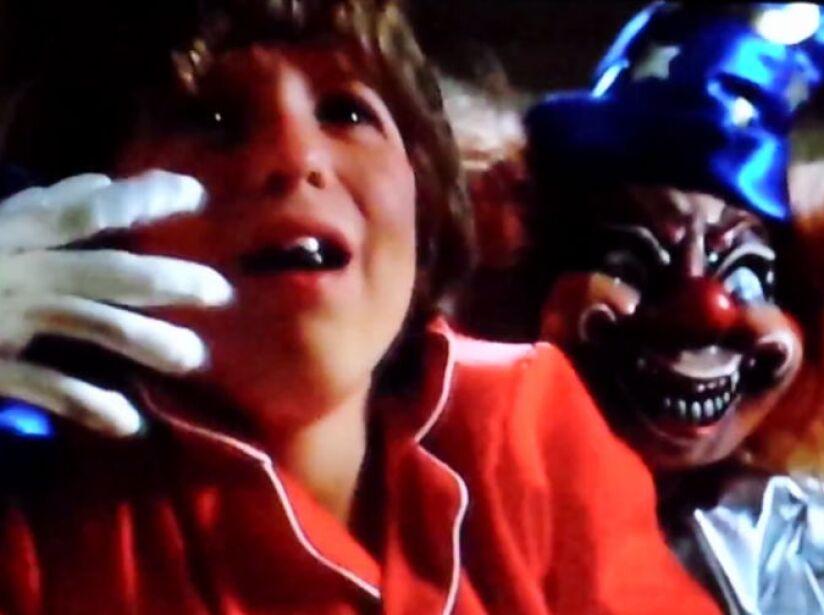 El payaso de Juegos Diabólicos (Poltergeist) fue lo más aterrador de esta película, ay no que feo...