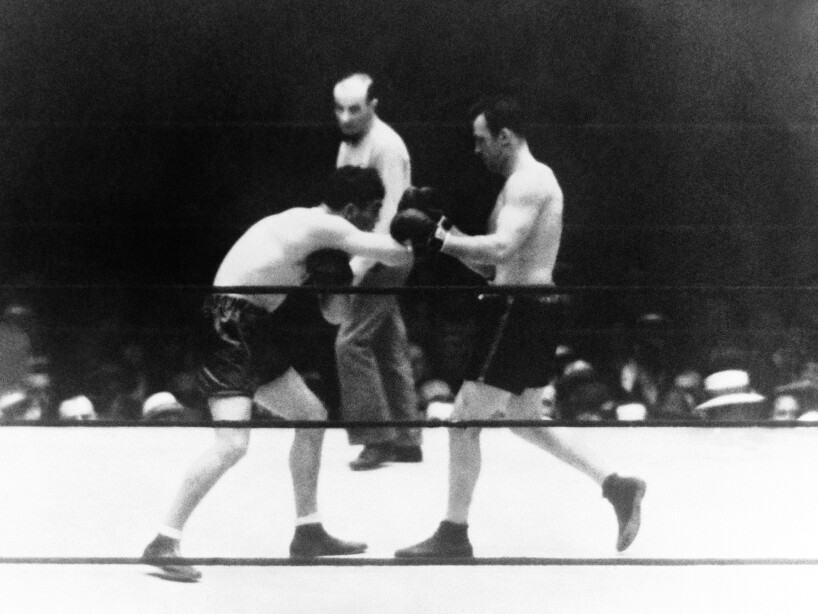 New York Boxing Max Schmeling and Jack Sharkey