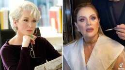 Erika Buenfil celebra 12 millones de seguidores al recrear escena de 'El Diablo Viste a la Moda'