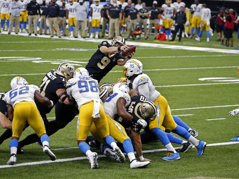 Chargers Saints Football