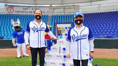 El club de béisbol, a través de su dueño Juan Carlos Martínez, realizaron un donativo en especie para sumar esfuerzos en contra del coronavirus.