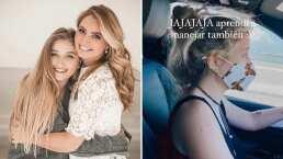 '¿Me dejan de regañar?': Critican a hija de Angélica Rivera por usar el celular en una gasolinera