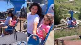 Aitana Derbez y Alessandra no le tienen miedo a las alturas y lo demuestran en parque de diversiones