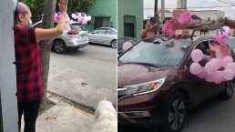 A esta futura mamá la sorprendieron con un desfile para que no se quedara sin baby shower