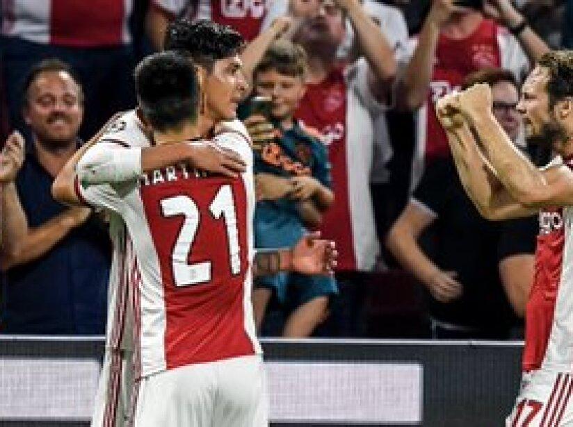 Edson Álvarez anotó en su debut en Champions League. El mexicano abrió el marcador en la eliminatoria ante el APOEL y mantiene al Ajax en la siguiente fase.