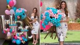 Sorprenden a Marlene Favela en su cumpleaños; le llevaron pastel y un enorme arreglo de globos