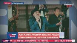 José Manuel Figueroa rebasa el millón de reproducciones con 'Ojitos de Golondrina'