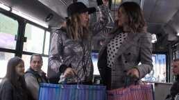 Video: Belinda viaja por primera vez en un pesero y le invita unas garnachas a Galilea Montijo