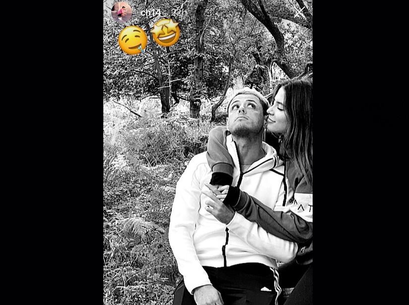 Chicharito y su novia Sarah Kohan presumen su amor en las redes