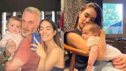 Gianluca Vacchi llena de piropos a Sharon Fonseca y a su hija Blu