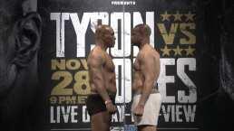 ¡Mike Tyson y Jones Jr. ya se pesaron y el cara a cara se puso tenso!