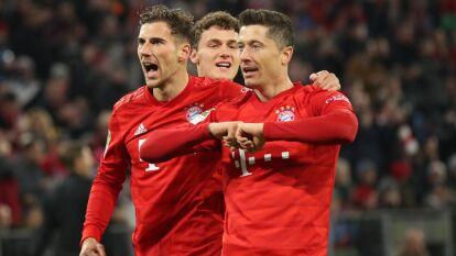 Con goles de Robert Lewandowski, Thomas Mueller, Leon Goretzka, Thiago Alcántara y Serge Gnabry, Bayern Múnich golea 5-0 al Schalke 04.