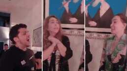 Nodal asistió al cumpleaños de su suegra y la sorprendió cantándole con todo y mariachi