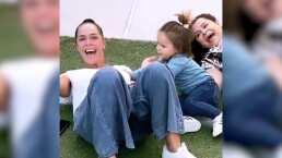 """Brandon Peniche presume cómo Sharis Cid y su mamá juegan con su hija: """"Disfrutando de sus abuelitas"""""""
