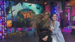 Bárbara Islas desgreña a Sofía Escobosa como la niña del pastel en programa en vivo