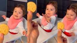 La hija de Adrián Uribe enternece las redes al mostrar su debilidad por las galletas