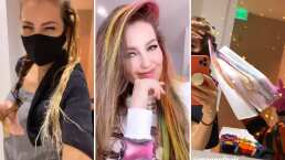 Thalía comparte el largo proceso por el que pasó para transformar su cabello en un arcoíris