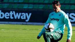 Guardado apunta a su primer partido del 2021 con Betis