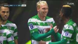 ¡Hasta parece delantero! Jéremy Mathieu le empata 1-1 al Braga
