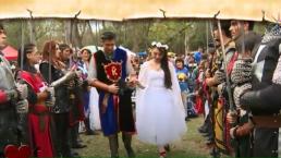 ¡Bodas medievales!: Cientos de personas se casaron este fin de semana. Entérate