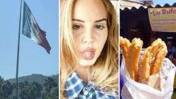 Lana del Rey disfruta sus vacaciones en México con amigos, música y comiendo churros