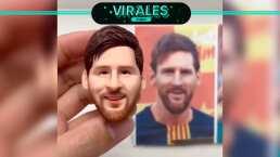 Recrean rostro de Messi... ¡en plastilina!