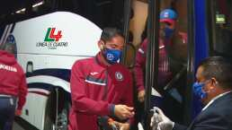 Así arribó Cruz Azul al Estadio Azteca para enfrentar a Pumas