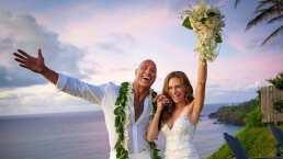 """Tras 12 años de relación, Dwayne Johnson """"La Roca"""" se casó en una ceremonia secreta"""