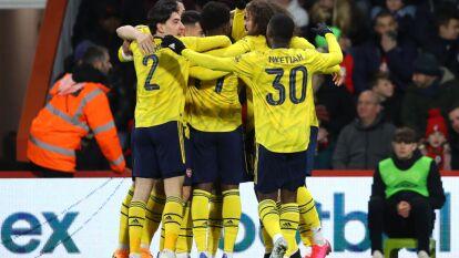 El Arsenal derrotó al Bournemouth 1-2, a domicilio, en la cuarta ronda de la FA Cup, con goles de Saka y Nketiah, que disputó el inicio de la misma con el Leeds United.
