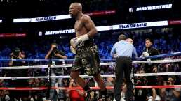 Floyd Mayweather Jr le da a su hijo lecciones de boxeo