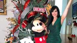 Maribel Guardia se inspiró en Mickey Mouse para lucir un arbolito de Navidad lleno de magia y color