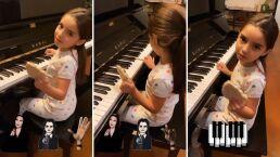 Aitana Derbez debuta como pianista y lo hace al ritmo de 'Los Locos Addams'