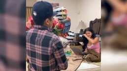 Entre lágrimas, mariachi y globos, Kimberly Flores celebra su cumpleaños junto a Edwin Luna