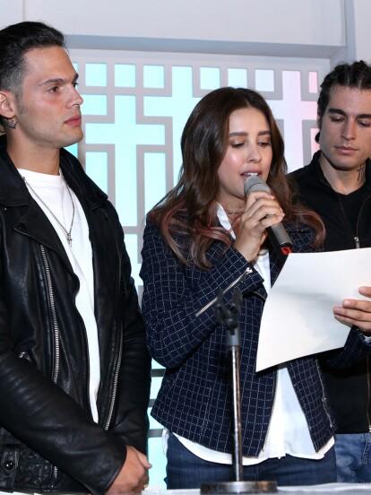 El pasado 31 de julio se reunió el elenco de la telenovela 'Vencer el Miedo' para celebrar una misa por el inicio de grabaciones.
