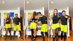 Daniella Álvarez presume lo mucho que ha avanzado con su prótesis y se avienta bailecito con su hermano